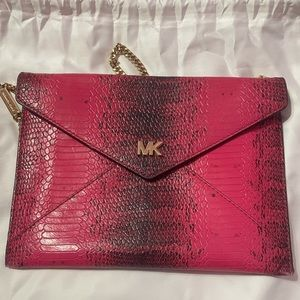 Michael Kors Medium Envelope Clutch- Ultra Pink